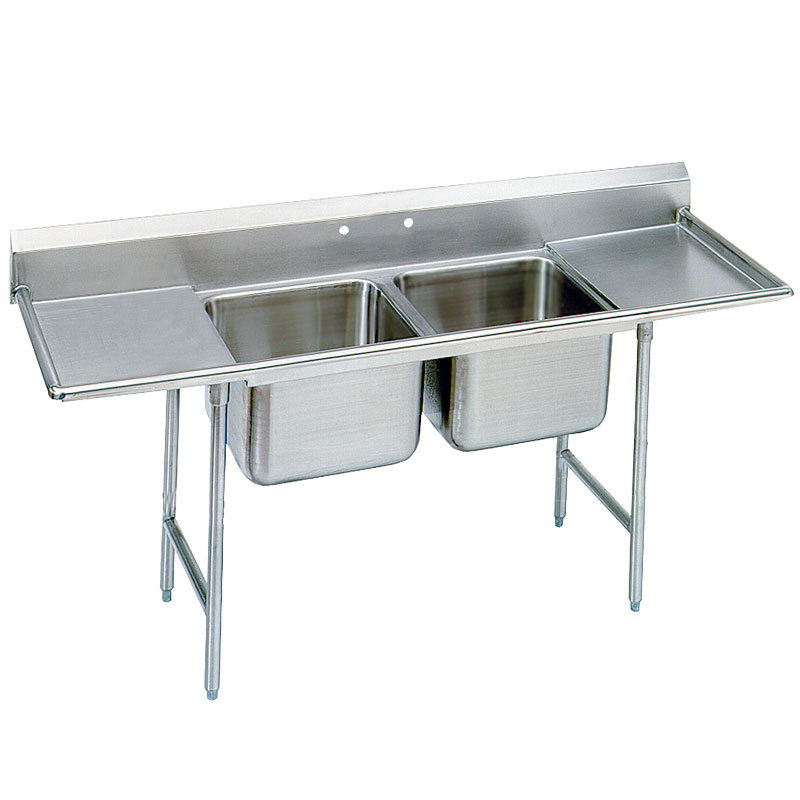 2 Sink Unit Mast Kitchen Call 8686232829 : advance tabco t9 22 40 18rl two compartment stainless steel commercial sink with two drainboards 81 1 from www.mastkitchen.com size 800 x 800 jpeg 56kB
