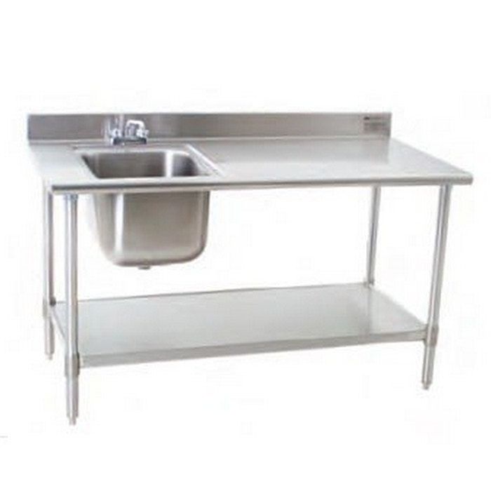 Work table with sink mast kitchen - Stainless kitchen table ...